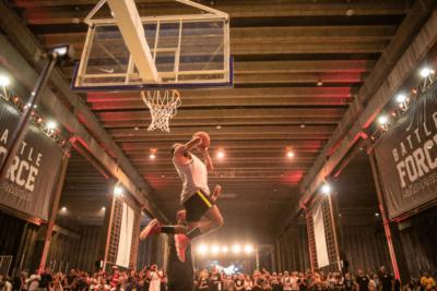 evento de basquete no arca